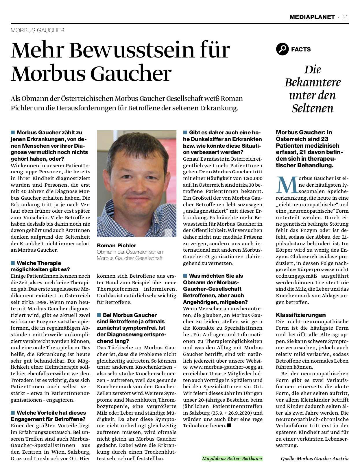 Artikel Mehr Bewusstsein für Morbus Gaucher